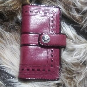 🌸 Brighton Leather Kisslock Wallet